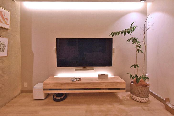 フロートテレビボードで実現したモダンリビング|ビフォーアフター