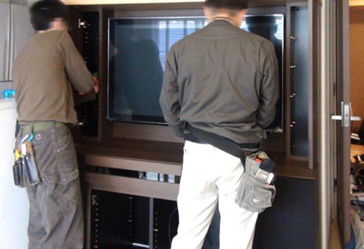DIYの参考に:TVボードの設計から取付まで。職人の作業に注目