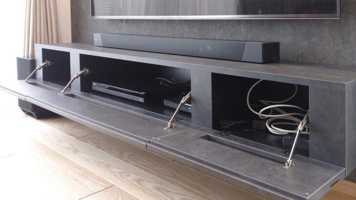 フロートテレビボードは真ん中が下がってくる可能性が強い