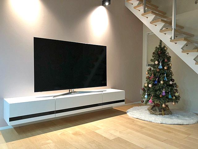 建設済みの戸建てでもフロートテレビボードは設置できるの?